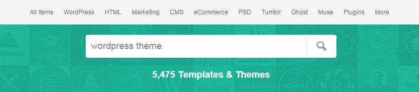 ThemeForest Theme Search